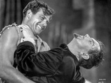 Most Dangerous Game Two Men Fighting in black and White Photo by  Movie Star News