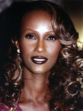 Iman with Dark lipstick and Curly Hair Photo by  Movie Star News