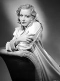 Maria Palmer on a Silk Dress Leaning Photo by  Movie Star News