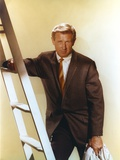 Lloyd Bridges posed in Portrait with a Ladder Photo by  Movie Star News