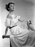 Ruth Roman Seated in Classic Photo by  Movie Star News