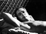 Paul Newman on Bed Black and White Photo by  Movie Star News