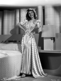 Mary Martin on a Printed Silk Dress with Hands on Waist Photo by  Movie Star News