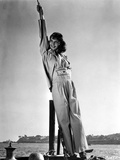 Mary Martin standing and Leaning on a Post in Classic Photo by  Movie Star News