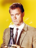 Larry Hagman Posed in Yellow Background Photo by  Movie Star News