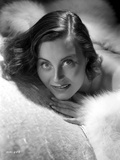 Michele Morgan Surrounded with Furry Cloth Photo by  Movie Star News