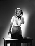 Priscilla Lane Answering a Telephone Pose Photo by  Movie Star News