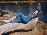 Linda Cristal Lying in Classic Photo by  Movie Star News