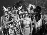 Rita Moreno on a Dress with Natives Photo by  Movie Star News