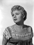 Shelley Winters wearing a Blouse in a Close Up Portrait Photo by  Movie Star News