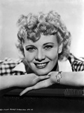 Penny Singleton smiling in Checkered Polo Close Up Portrait with White Background Foto af  Movie Star News