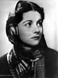 Margaret Lockwood on Checkered Scarf Photo by  Movie Star News