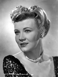 Penny Singleton smiling in Black Floral Dress Close Up Portrait Photo af Movie Star News