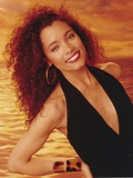 Michael Michele smiling in Black Dress Photo by  Movie Star News
