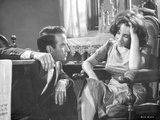 Suddenly Last Summer Couple Having a Serious Talk Scene Excerpt from Film in Black and White Photo by  Movie Star News