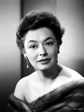 Ruth Roman wearing Fur Coat Close Up Portrait Photo by  Movie Star News