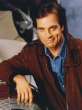 Stephen Collins Reclining Pose wearing Brown Leather Jacket Photo by  Movie Star News