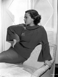 Sylvia Sidney Reclining on a Couch in Long Sleeve Blouse Photo by  Movie Star News