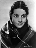 Margaret Lockwood Posed in Checkered Veil Photo by  Movie Star News