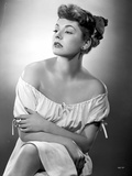 Ruth Roman in White Dress Portrait Black and White Photo by  Movie Star News