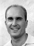 Robert Duvall smiling in Black and White Photo by  Movie Star News