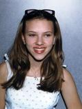 Scarlett Johansson Pose in White Dress Photo by  Movie Star News