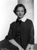 Sylvia Sidney Posed in Checkered Blazer and Skirt Photo by  Movie Star News