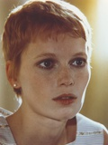 Mia Farrow Close Up Portrait wearing White Printed Tank Top Photo by  Movie Star News