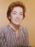 Linda Cristal Portrait in Classic with Yellow Background Photo by  Movie Star News