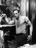Marlon Brando portrait wearing Grey Shirt Photo by  Movie Star News