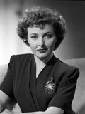Laraine Day posed wearing Ambassadress Outfit in Black and White Photo by  Movie Star News
