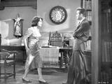 Suddenly Last Summer Man and Woman Arguing Scene Excerpt from Film in Black and White Photo by  Movie Star News