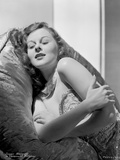 Susan Hayward Lying and sitting in an Embroidered Dress Photo by  Movie Star News
