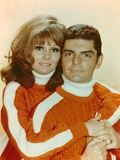 Paula Prentiss wearing the Same Sweater Couple Portrait with White Background Photo af Movie Star News