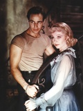 Marlon Brando posed with Woman Photo by  Movie Star News