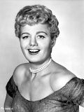 Shelley Winters wearing an Off Shoulder Dress and a Pearl Necklace in a Classic Portrait Photo by  Movie Star News