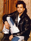 Richard Grieco Seated in Black Leather Jacket Photo by  Movie Star News