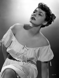 Ruth Roman Posed in White Dress Portrait Photo by  Movie Star News