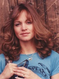 Pamela Sue Martin Portrait in Blue Shirt Photo by  Movie Star News