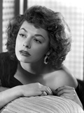 Ruth Roman Lying Pose Black and White Portrait Photo by  Movie Star News