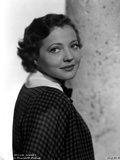 Sylvia Sidney Posed in Checkered Blouse Photo by  Movie Star News