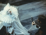 Sadie Frost in White Demon Costume Movie Scene Photo by  Movie Star News