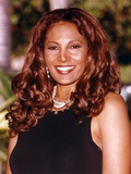 Pam Grier smiling in Black Dress Portrait Photo by  Movie Star News