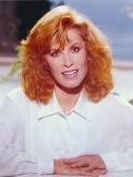 Stefanie Powers smiling in a Portrait wearing White Long Sleeves Photo by  Movie Star News