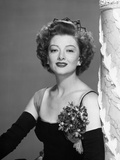 Myrna Loy Posed in Black and White with Corsage Photo by  Movie Star News
