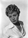 Shelley Winters wearing a White Long Sleeves in a Classic Portrait Photo by  Movie Star News