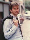 Sam Waterston Portrait in Blue Long Sleeves Photo by  Movie Star News