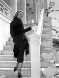 Patricia Neal on a Long Sleeve standing on Stairs Photo by  Movie Star News
