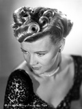 Penny Singleton Looking Down in Black Floral Dress Close Up Portrait Photo by  Movie Star News