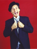 Sid Caesar in Tuxedo with Hat Portrait Red Background Photo by  Movie Star News